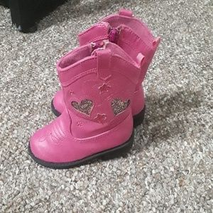 Pink baby cowboy boots